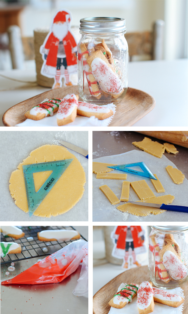 Decorated finger biscuits